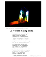 A WOMAN GOING BLIND